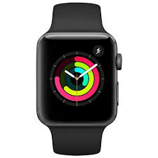 Apple Watch Series 3, GPS, 42mm, Space Grey Aluminium Case with Black