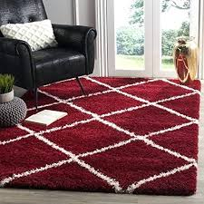 safavieh hudson collection collection red ivory diamond trellis square area rug 7 square home