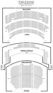 Benaroya Seating Chart Ford Center Oriental Theatre Seating Chart Theater Seating