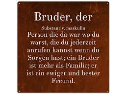 Vintage Metallschild Blechschild Bruder Wandschild Von Interluxe Via