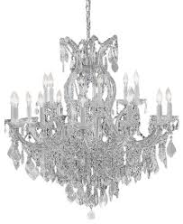 maria theresa crystal silver chandelier