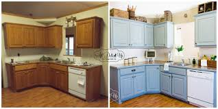 painted kitchen cabinets before and after. Contemporary Before Painting Stained Kitchen Cabinets Regarding Trendyexaminer Plans 2 In Painted Before And After