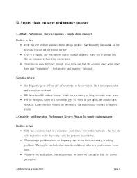 Job Description For Supply Chain Manager Job Performance Evaluation