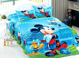 blue mickey mouse football bedding sets single twin size bedclothes bed quilt duvet cover sheets boys