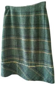 Oilily Greens And Blues Tartan Plaid Skirt Size 8 M 29 30