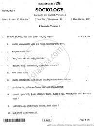 sociology arts th nd puc university exam  sociology 2014 arts 12th 2nd puc university exam department of pre