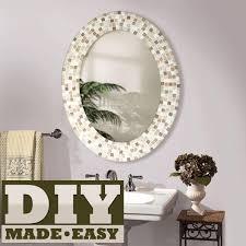 Diy mirror frame decoration Diy Silver Handsjewelersinfo Make Mosaic Mirror