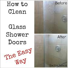 best way to clean a gl shower door image cabinets and