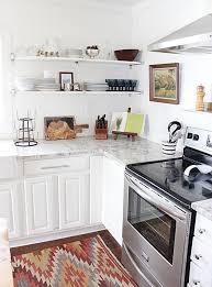 kilim rug in kitchen