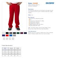 Gildan Mens Sweatpants Size Chart Best Picture Of Chart