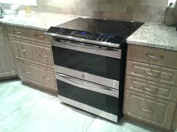samsung slide in stove installation double oven flat top range with94