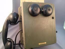 vintage wwii us navy kellogg wood wall phone