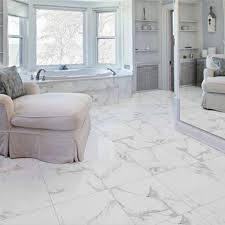 classic white mercury marble effect polished porcelain wall floor large 60x60 cm tiles