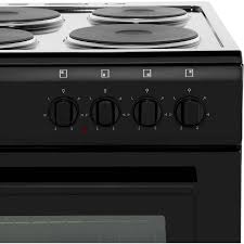 New World Kitchen Appliances Newworld Nw50es Electric Cooker With Solid Plate Hob Black