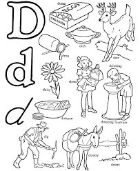 Small Picture Alphabet Coloring Pages Letters Pictures Words Coloring Coloring