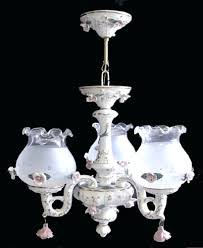 italian ceramic chandelier porcelain 3 lights globes new parts nyc full size