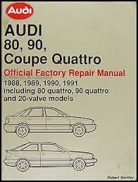 1988 audi 80 and 90 wiring diagram original 1988 1991 audi 80 and 90 bentley repair shop manual 129 00