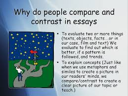 compare and contrast essays ppt video online why do people compare and contrast in essays