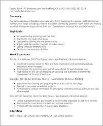 Kennel Assistant Resume Template Best Design Tips Myperfectresume