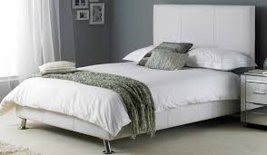 hyder milan bed white leather bed
