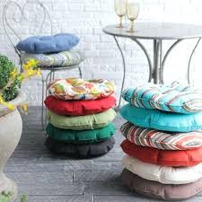 awesome round patio chair cushions for round bistro outdoor seat cushion set of 2 91 patio new round patio chair cushions