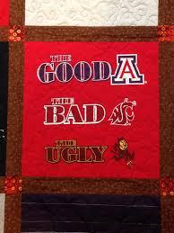 T-shirt quilt | Gorram Quilts & t-shirt tshirt quilt UA University of Arizona Arizona State ASU WSU  Sundevils Sparky Wildcats Adamdwight.com