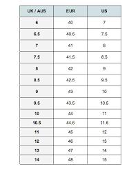 Raoul Size Chart Raoul Merton Piston Shoe Black