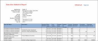 Management Ledger Execution Statistics Report Example