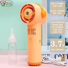 Quạt phun sương mini cầm tay không cánh tích điện để bàn siêu mát lạnh Máy  phun sương mini tạo ẩm CAO CẤP ✓ - Quạt Đứng