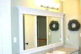 mirror framing kit lowes bathroom frames bathroom mirror frames ideas  making bathroom mirror frames photo of