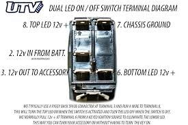 led rocker switch wiring diagram michaelhannan co dual led rocker switch wiring diagram toggle terminal back lit lighted