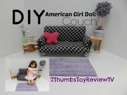 homemade doll furniture. DIY American Girl Doll Couch YouTube Homemade Furniture