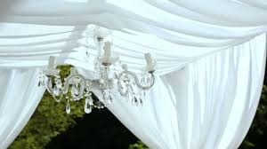 wedding decorations crystal chandelier on a arch stock