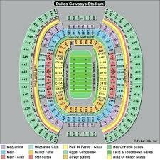 Dallas Cowboys Stadium Seating Chart Dallas Football Stadium Seating Chart Uncc Football Stadium