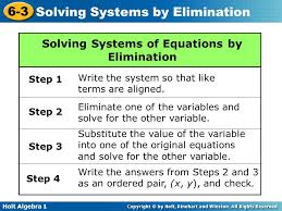 solving systems of equations quizlet tessshlo