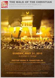 The Walk Of The Christian Church Flyer Template By Rockibee ...