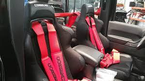 rock hard 4x4 8482 front seat harness bar for jeep wrangler jk 4dr 2007 2018 rh 1030 sfh4