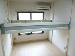 studio apartment with built in loftable bed