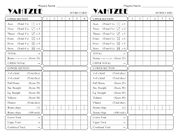 Yahtzee Score Sheets Template yatzee printable score sheets yahtzee score card All for fun 1