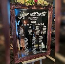 Mirror Wedding Seating Chart Details About Personalised Wedding Seating Plan Decals Custom Sized Table Chart Transfer
