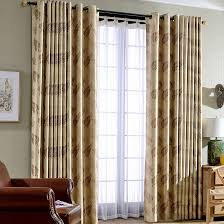light shading thick polyester thermal blackout insulated curtains in champagne color