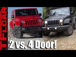 jeep wrangler 2 door vs 4 door pared contrasted reviewed clip fail