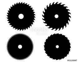 circular saw blade vector. black silhouettes of circular saw blades, vector blade
