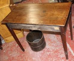 oak and mahogany one drawer side table