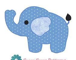 Elephant Pattern Beauteous Elephant Pattern Elephant Applique Block Quilt Appliqué