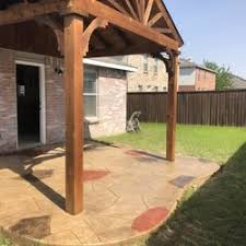 covered stamped concrete patio. Photo Of HJ Cedar Patio Covers And Stamped Concrete - Dallas, TX, United  States Covered Stamped Concrete Patio E