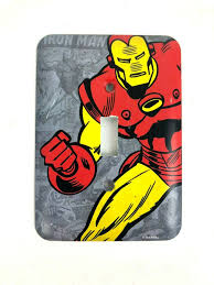 Superhero Light Switch Cover Iron Man Light Switch Cover