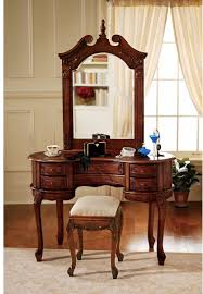 dark wood bedroom vanity