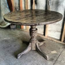 shabby chic round dining table 40 pretty rooms
