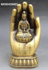 moehomes chinese buddhism copper kwan yin bodhisattva goddess hand